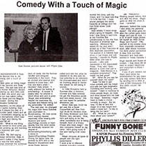 Image of Gayle Becwar Comedy With a Touch of Magic Article