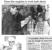 Image of Gayle Becwar Firms Hire Magician to Work Trade Shows Article