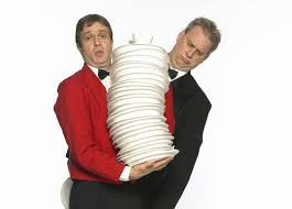 Magical Comedy Waiters-Photo with plates
